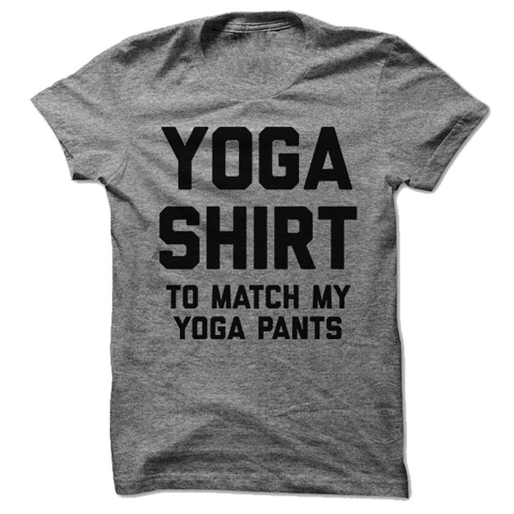 I got a yoga shirt to match my yoga pants. You are going to love the ultra soft feel of this classic fitted tee! Made from 90% cotton, 10% polyester athletic blend cloth. Printed right here in the USA