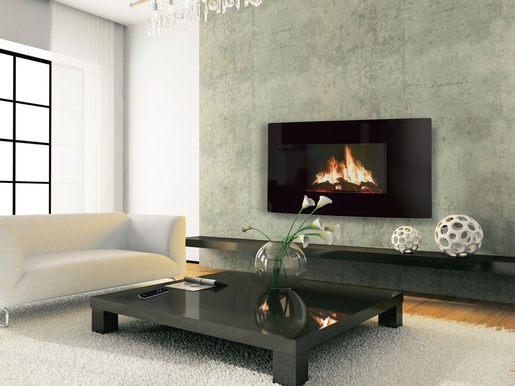 celsi puraflame curved wall mounted electric fire wall mounted