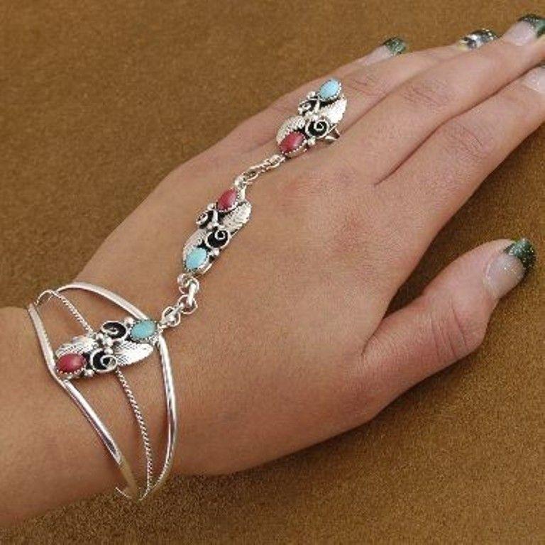 Women Cuff Bracelets Silver/&Golde Punk Metallic Chains Mirror Wide Bangle
