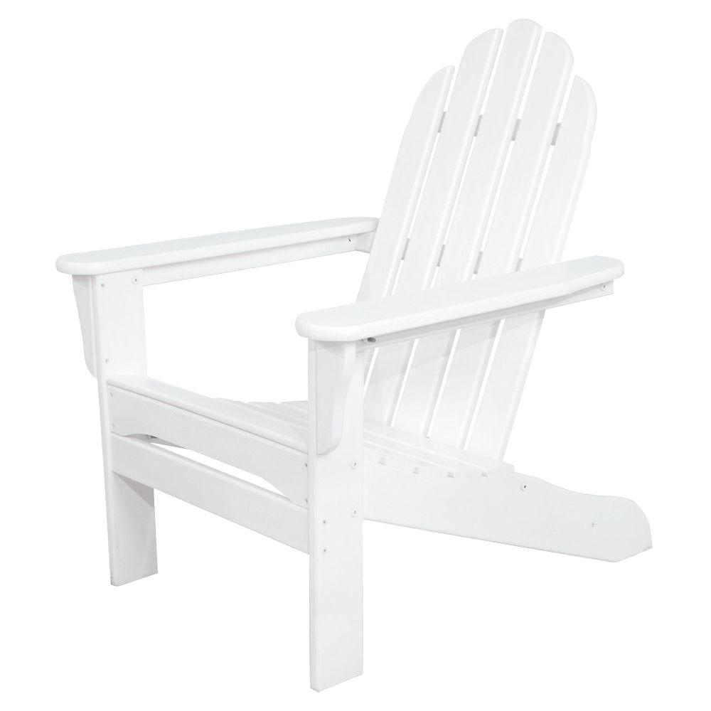 ivy terrace white plastic patio adirondack chair products rh pinterest co uk