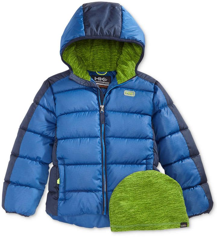 2c13ccc71 Hawke & Co Branson Hooded Puffer Jacket with Hat, Little Boys ...