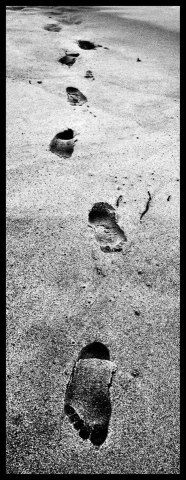foot prints in the sand..<3