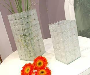 Floreros de vidrio - Las Manualidades