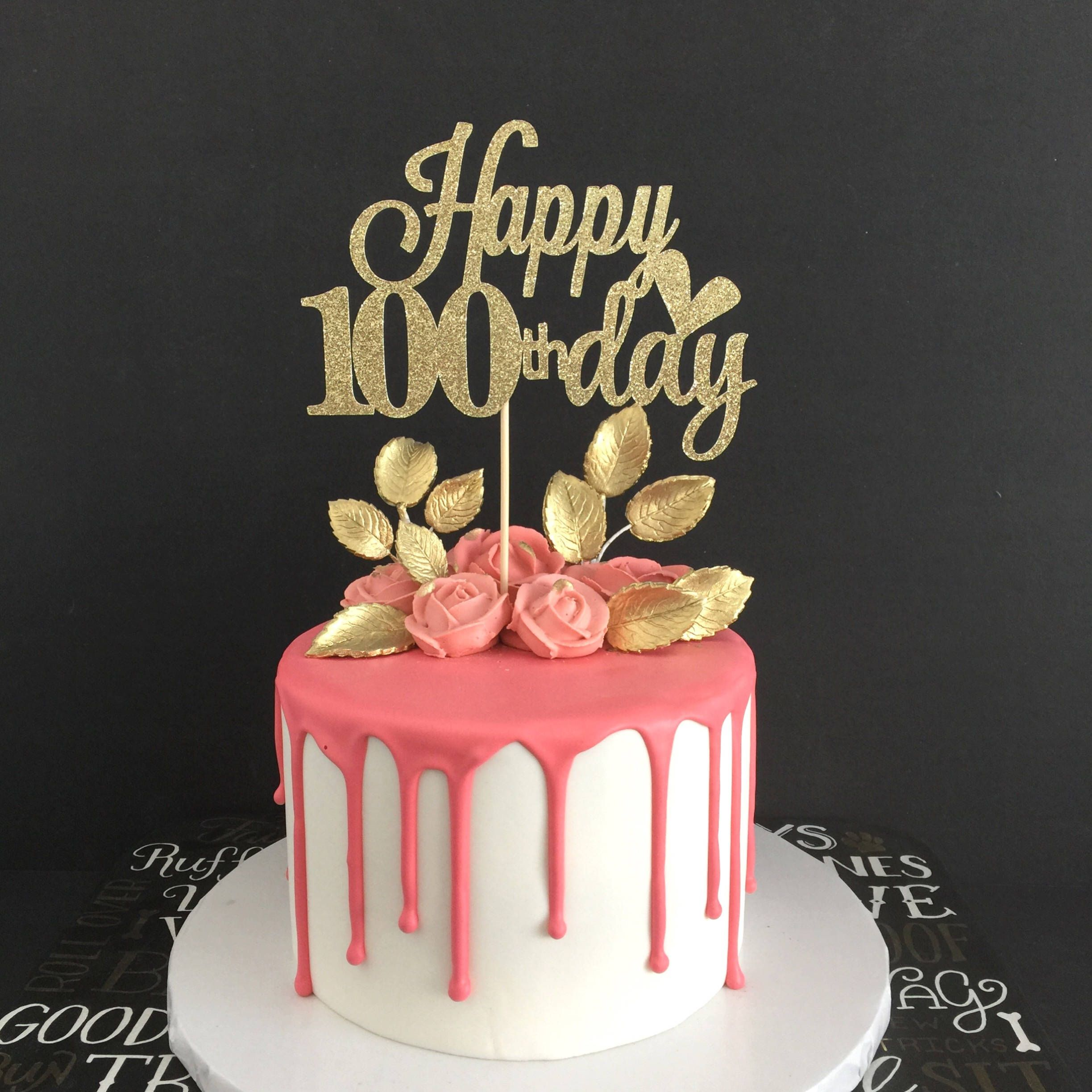 100 Days Cake Topper 100 Days Celebration Baby S 100