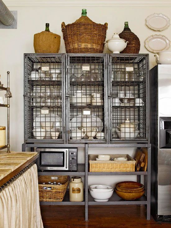 Favorite Things Friday Vintage Kitchen Upper Cabinets Decor