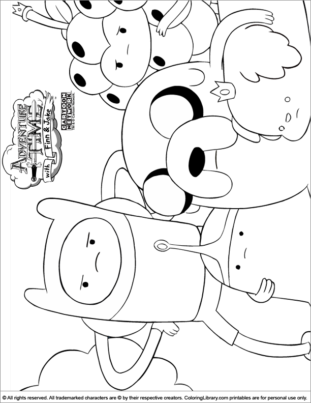 Adventure Time coloring page | Adventure time coloring ...