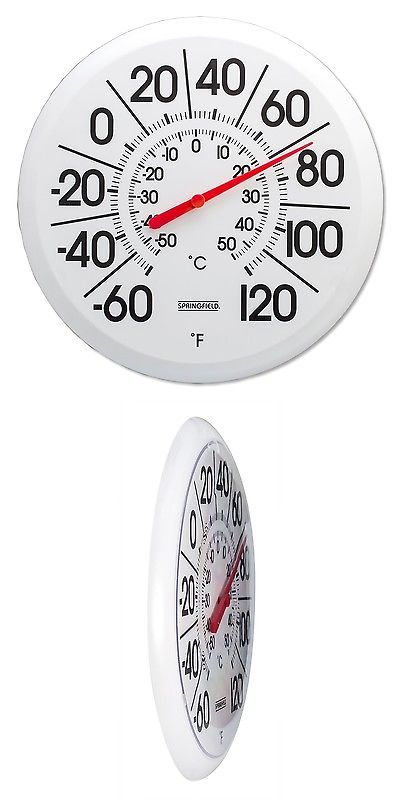 Outdoor Thermometers 75601: Springfield Big And Bold Low Profile Patio  Thermometer (13.25 Inch
