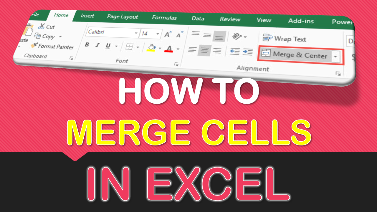 How to Merge Cells in Excel Microsoft excel tutorial