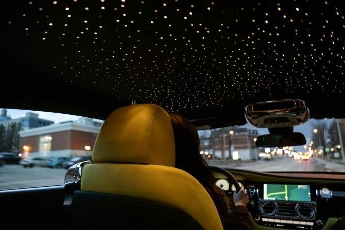 Car Starlight Headliner Has 1340 Hand Woven Fiber Optic