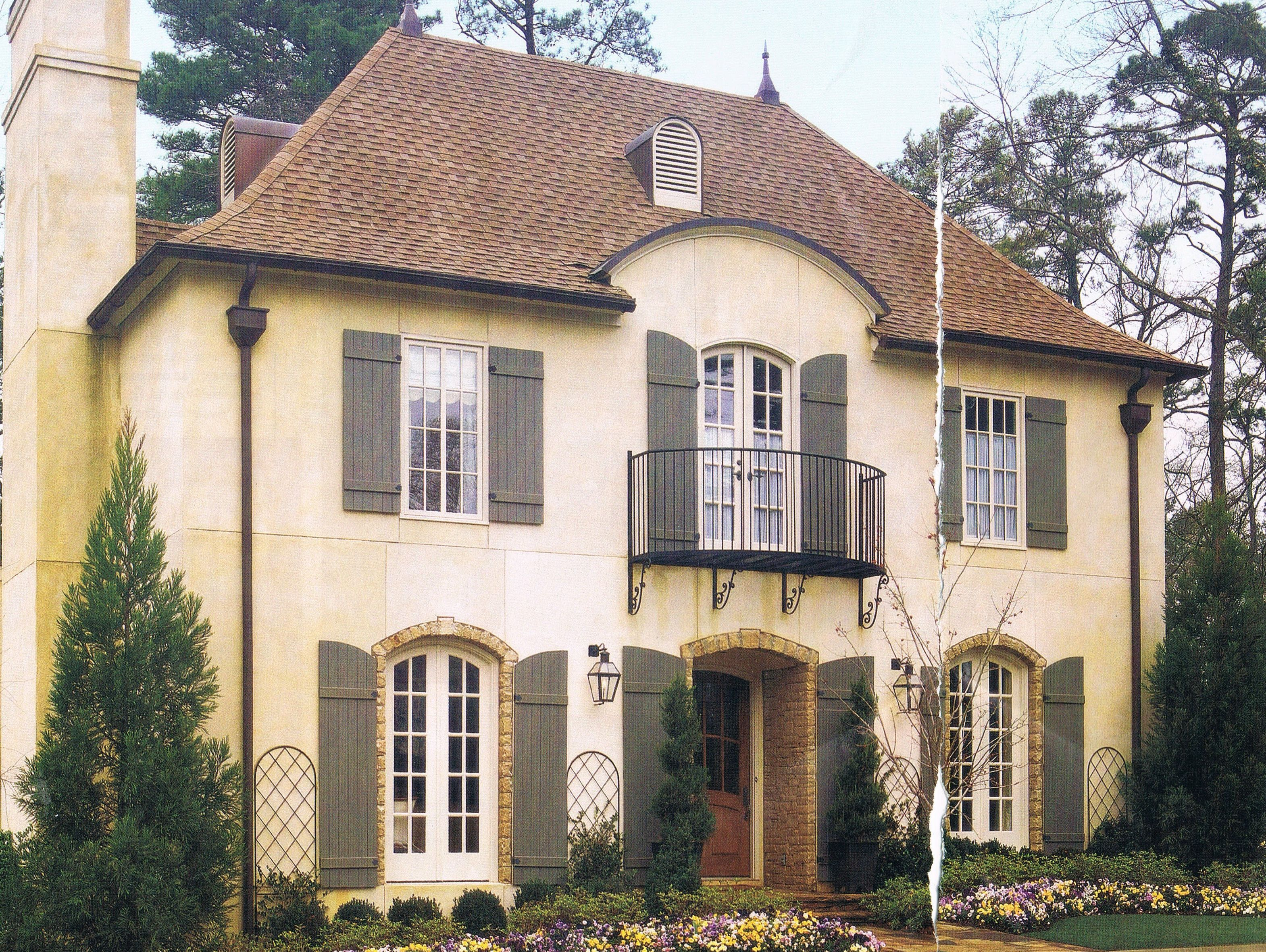 French provincial architectural styles french country for Country house exterior