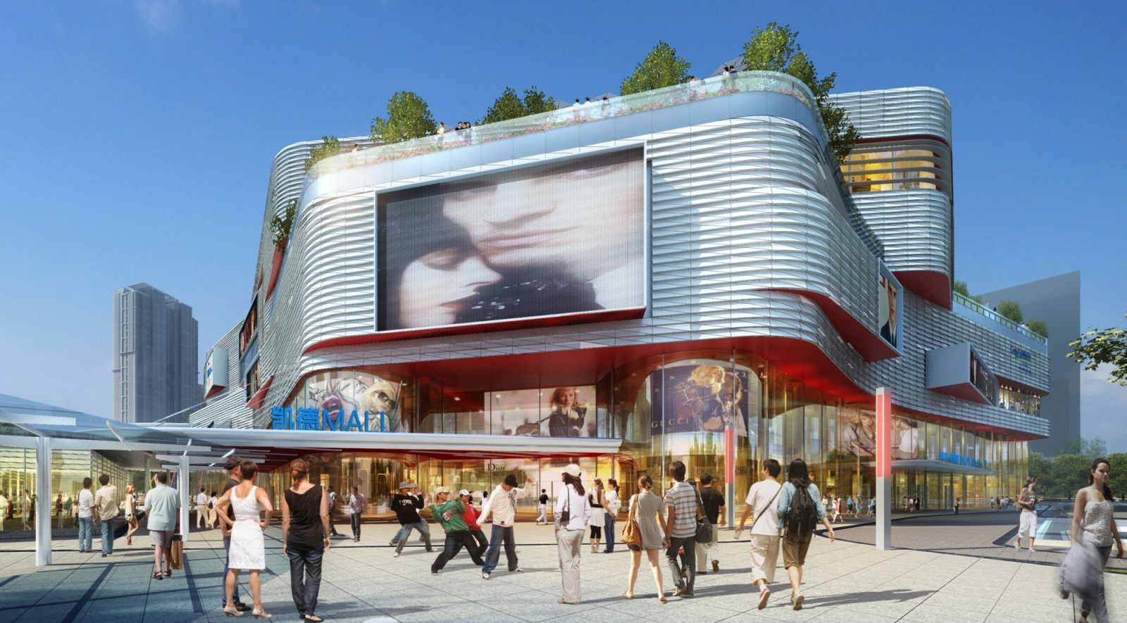 Capitamall Xinduxin By Laguarda Low Architects Facade Architecture Shopping Center Architecture Retail Architecture