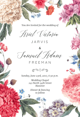 Garden Glory Printable Invitation Template Customize Add Text
