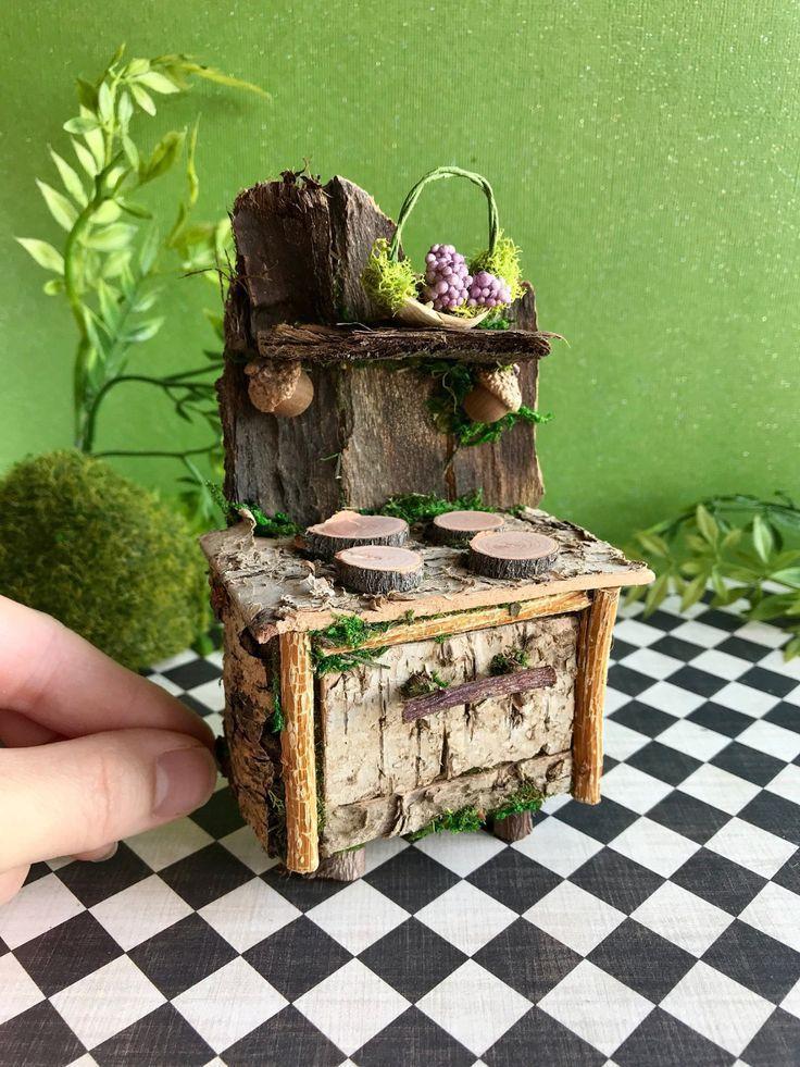 Miniature Fairy Furnace Fairy Furniture Fairies Dollhouse | Etsy Furniture Chairs, T …- Min … - Modern