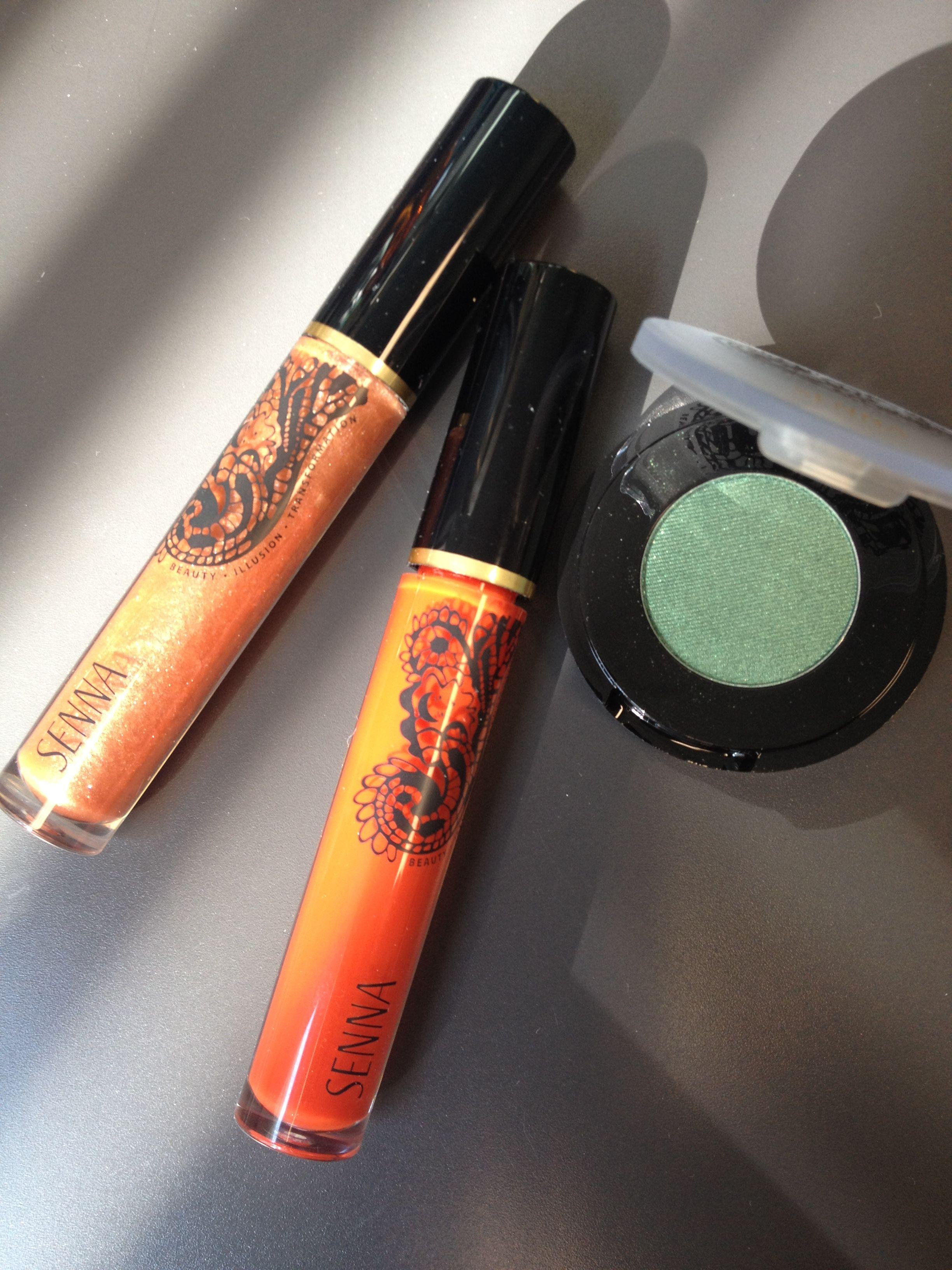 Emerald Eye Color & Bonfire Lip Lacquer