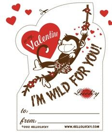Free Valentines card PDF for the kids by Hello Lucky  4 designs