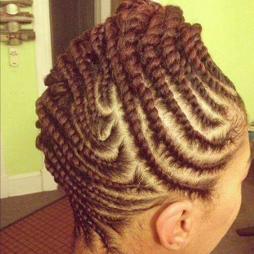 Vanille Couche Flat Twist Natural Hair Styles For Black Women Natural Hair Styles