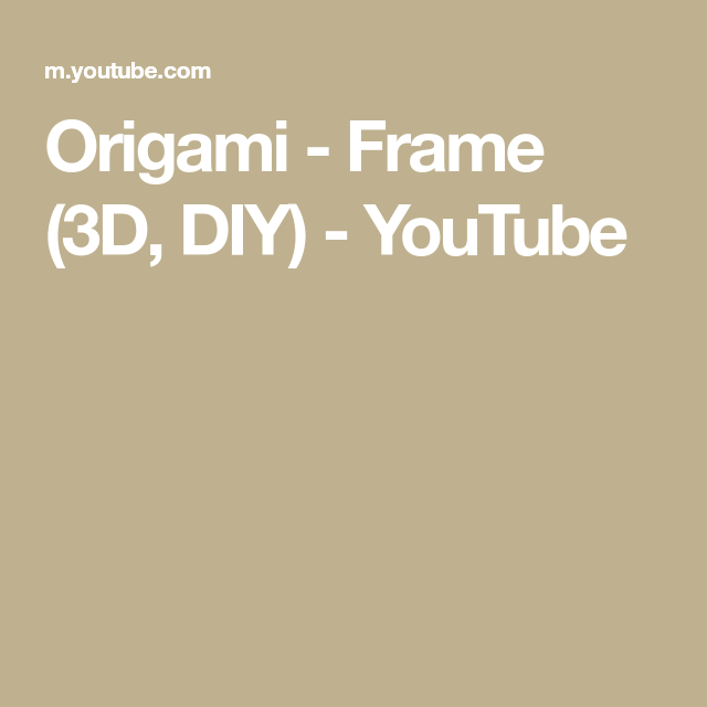 How To Make Origami Photo Frame -Tutorial- In 2 Minutes / Easy And ... | 640x640