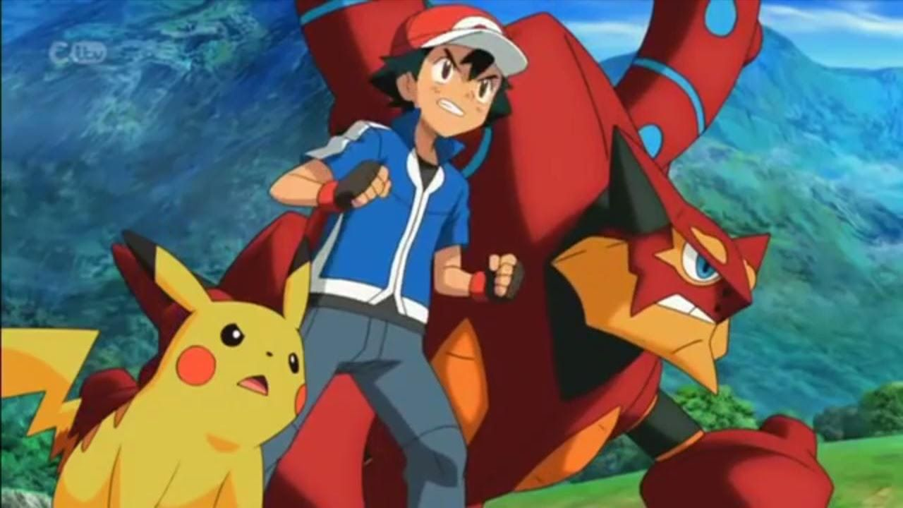 Pokemon The Movie 19 Volcanion And The Mechanical Marvel Pokemon Movies Pokemon Ash Pokemon