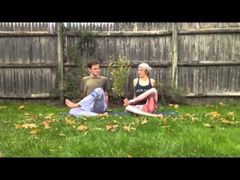 how to do agnistambhasana fire log pose with hayley beth