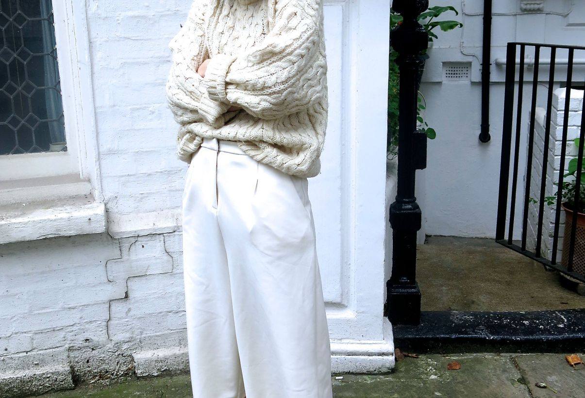 cable knit and culottes - Pandora Sykes