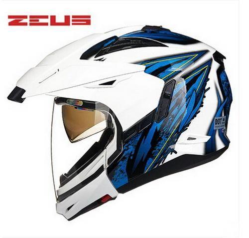 15261e22 2016 Newest ZEUS double lenses motocross motorcycle helmet ZS-613B modular  off road motorbike racing helmets dirt bike