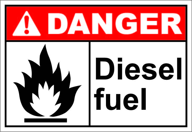 Diesel Fuel 1 64 Signs Signs Occupational Health And Safety Workplace Safety
