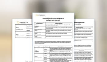 download ready made examples of employee reviews sample performance review comments and appraisal feedback