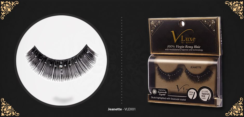 b9670a6e9b5 VLuxe Jeanette by i-Envy (Kiss) has tapered End Lash that looks more  natural and feels softer than regular #lashes. www.MadameMadeline.com