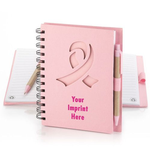 Personalized Ribbon Die-Cut Eco Notebook & Pen