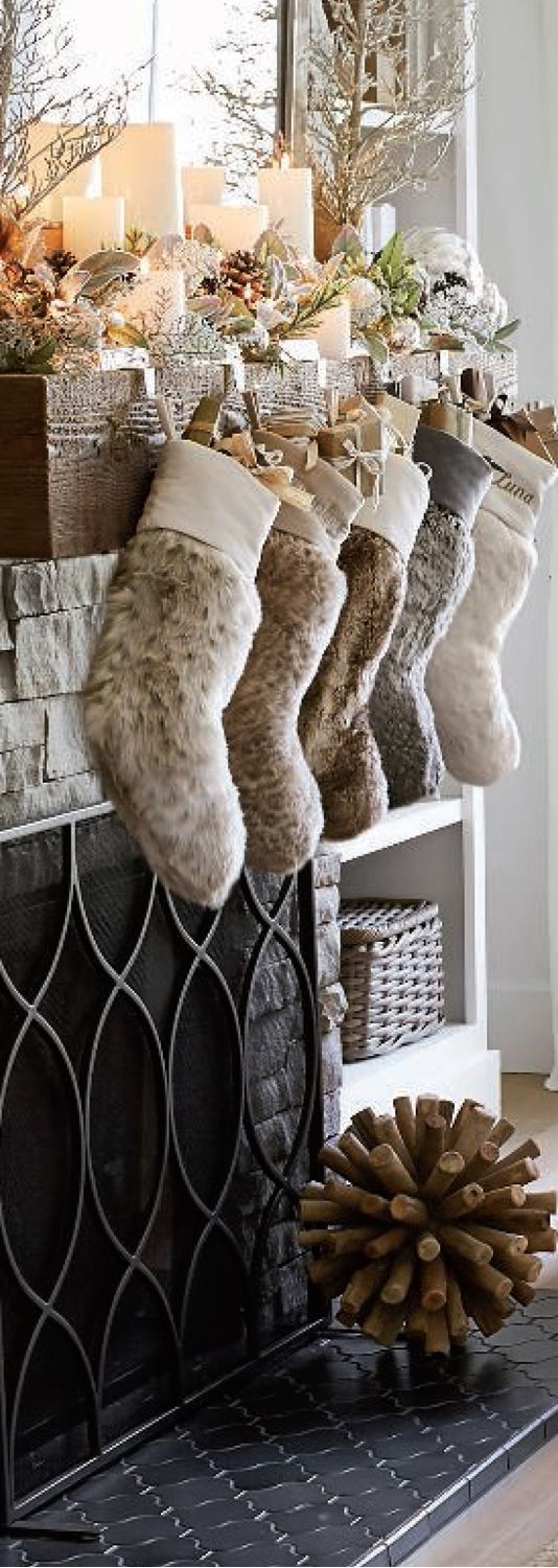 luxury christmas decor rustic christmas stockings - Rustic Christmas Stocking