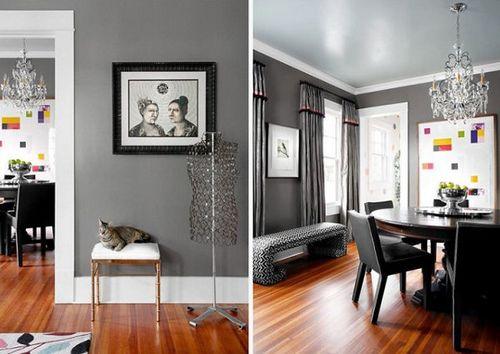 Ryann Ford Grey Walls White Trim Living Room