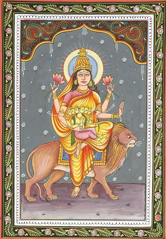 SKANDA MATA - Navadurga (The Nine Forms of Goddess Durga) | Hindu art,  Durga goddess, Folk art