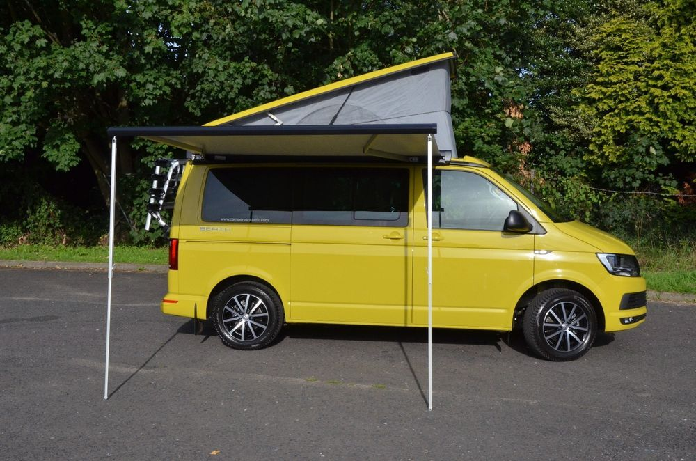 Ebay Vw California Beach Camper Van T6 2 0lt 7 Speed Dsg Automatic Grape Yellow Beach Camper California Beach Volkswagen