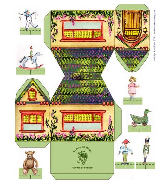 Paper House Template - 19+ Free PDF Documents Download | Printables ...