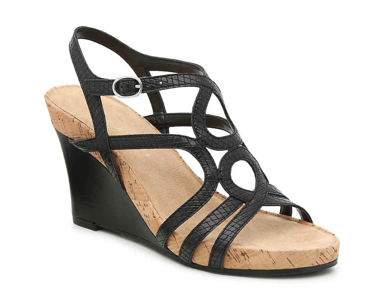6601217028 Kelly & Katie Plushin Wedge Sandal Women's Shoes | DSW | Clothes ...