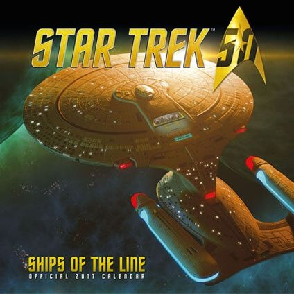 Star Trek Ships Official 2017 Calendar