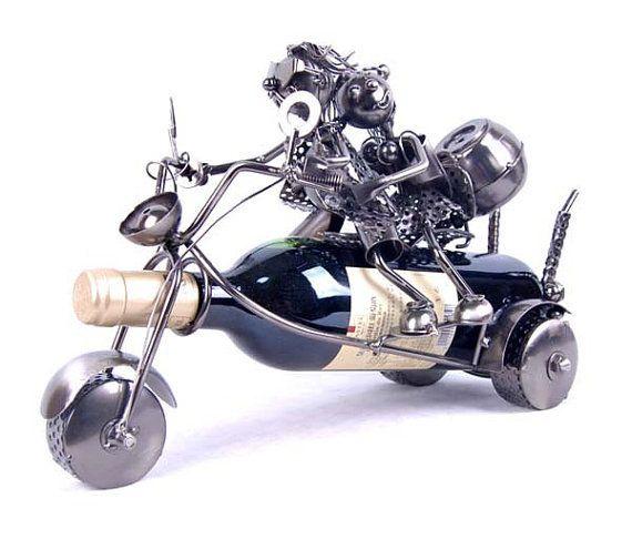Home Office Decoration metal iron wine rack motorcycle lovers 2683_X on Wanelo