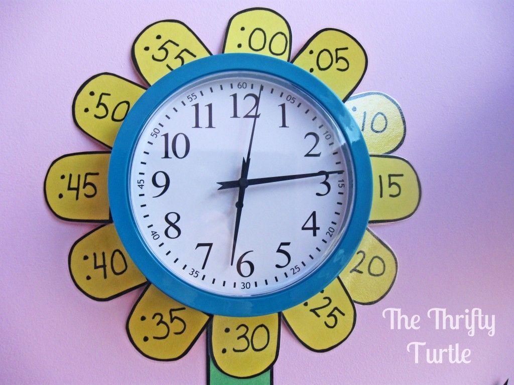 Cute Idea For Teaching Time