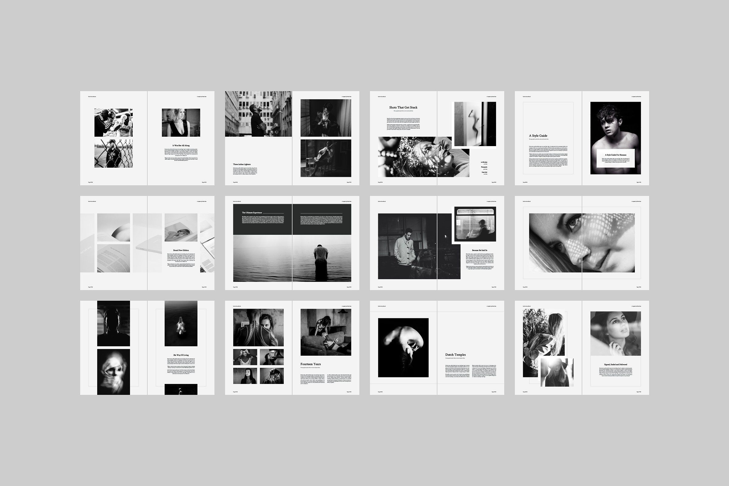 Scotland Lookbook by Ruben Stom on @creativemarket | Magazine Design ...