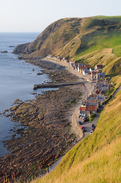 The entire village of Crovie, Scotland