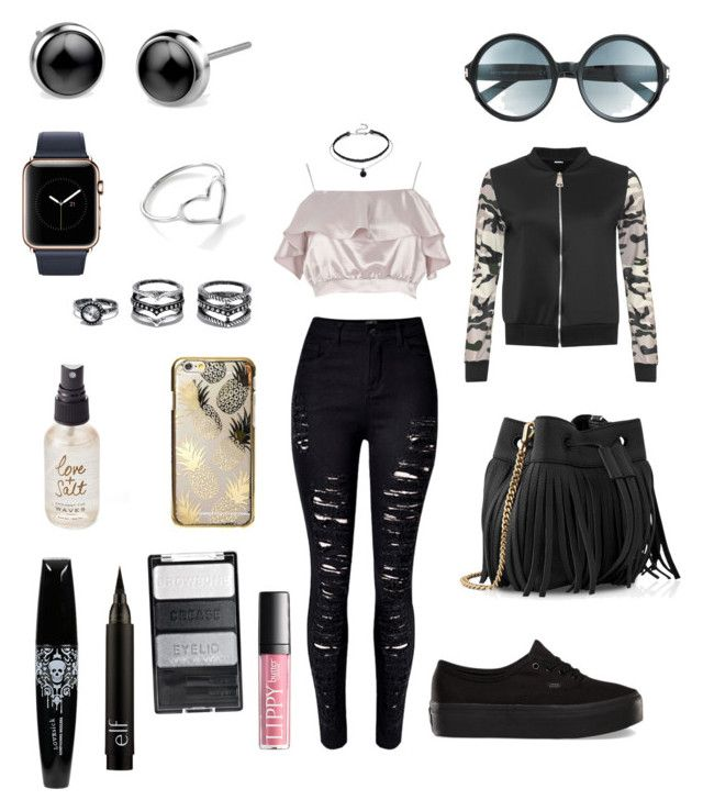 """Fun summer nite date"" by epiczp on Polyvore featuring WithChic, River Island, Vans, WearAll, Whistles, Skinnydip, Tom Ford, Jordan Askill, LULUS and Olivine"
