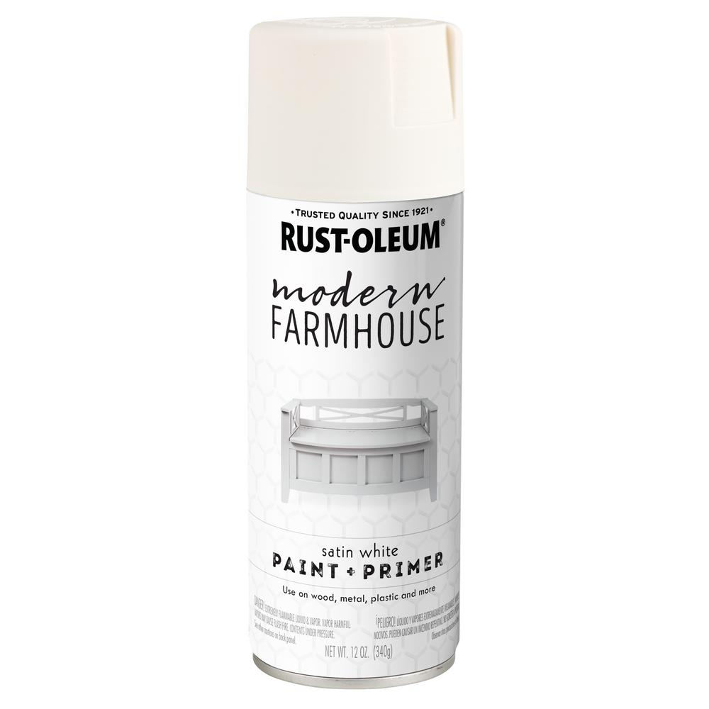 c56892bfcc Rust-Oleum Modern Farmhouse 12 oz. Satin White Spray Paint in 2019 ...