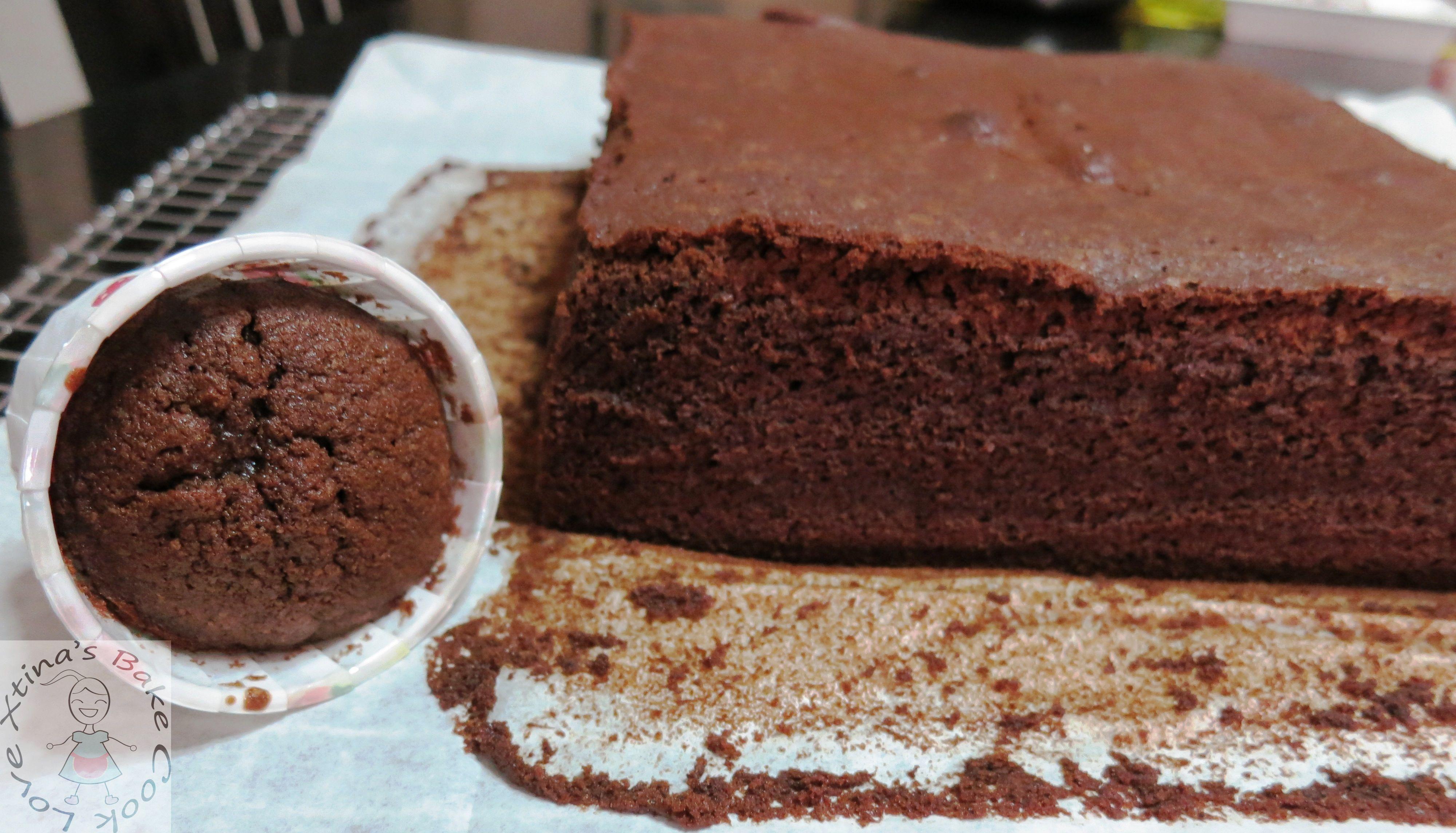 Deep Chocolate Sour Cream Pound Cake (Airfried vs Oven