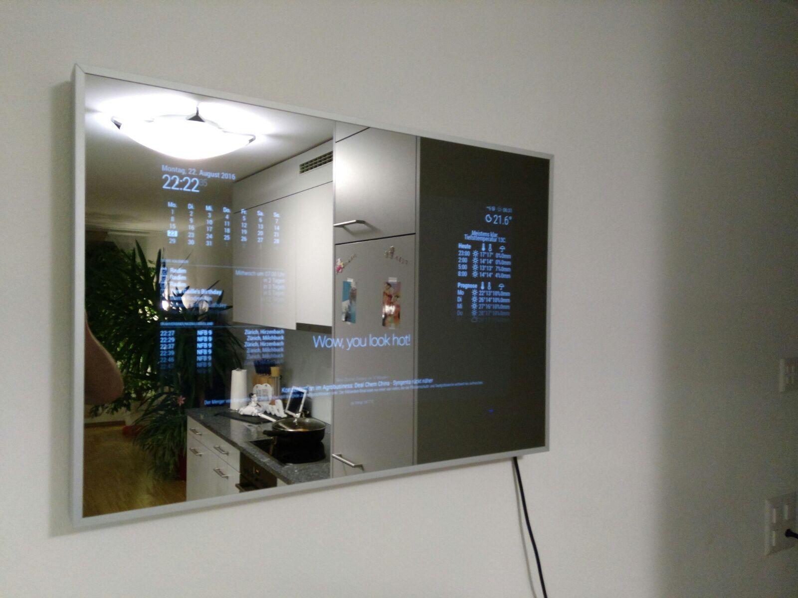 Trividar's Magic Mirror   Smart mirror, Magic mirror, Mirror