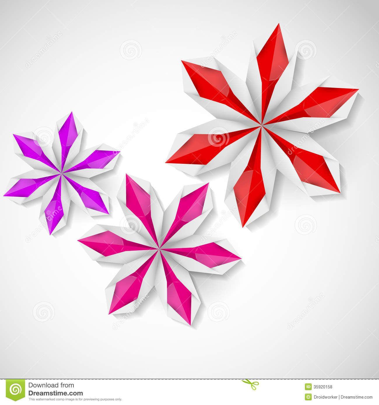 Flat Origami Flowers Flower