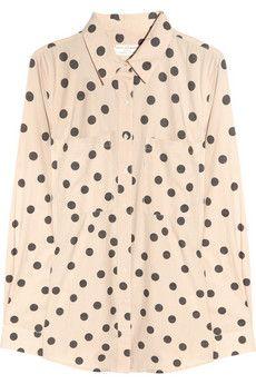 Polka-dot cotton shirt