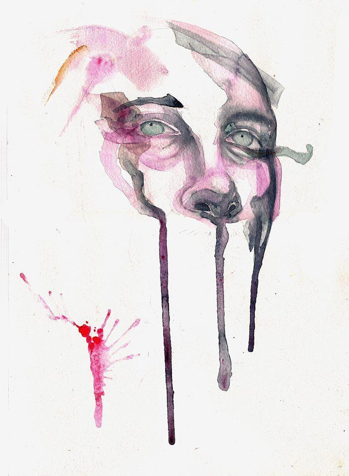 """Heart"" Watercolor   Randy Captain Guerra"