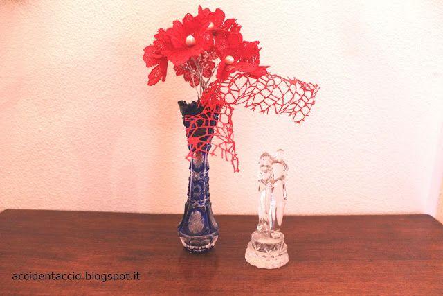 Accidentaccio: Handmade Valentine 2016 - un bouquet di fiori di pizzo #thecreativefactory #handmadevalentine2016