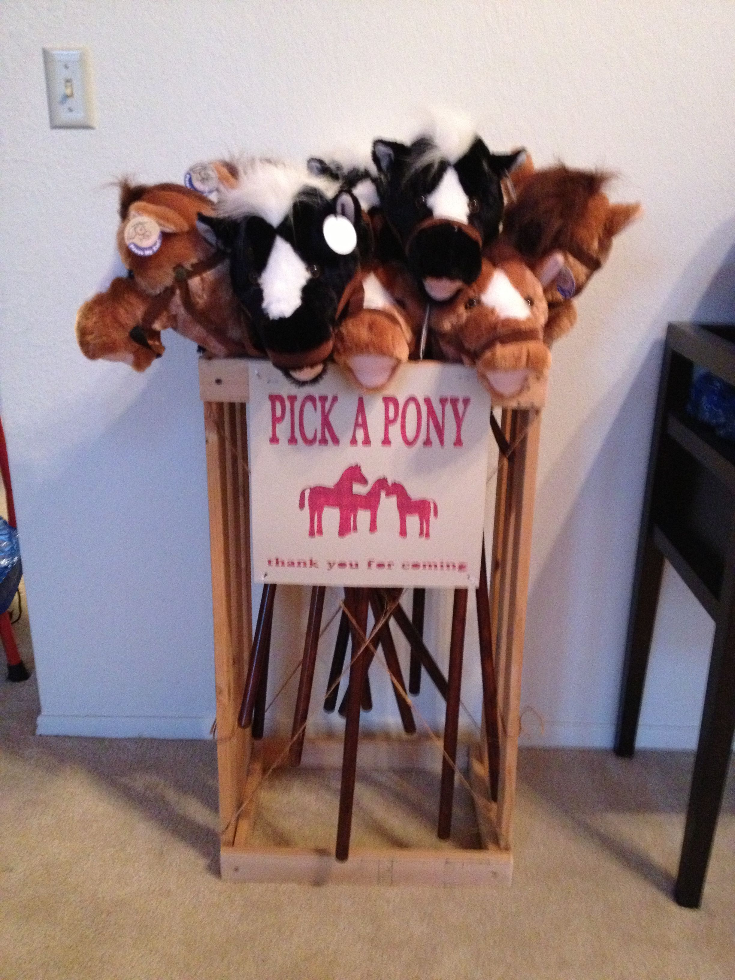 Stick Pony Party Favors Also Pony Quot Rides Quot And Races