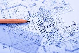 Los planes de un arquitecto.